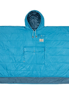 REVERSIBLE CAMP PONCHO 雙面睡袋式斗篷 / 湖水藍
