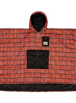 REVERSIBLE CAMP PONCHO 雙面睡袋式斗篷 / 黑.磚紅