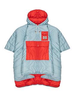 REVERSIBLE CAMP PONCHO 雙面睡袋式斗篷 / 天藍.紅