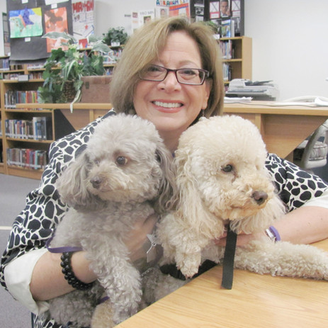 Sue Kirby and Benny at school