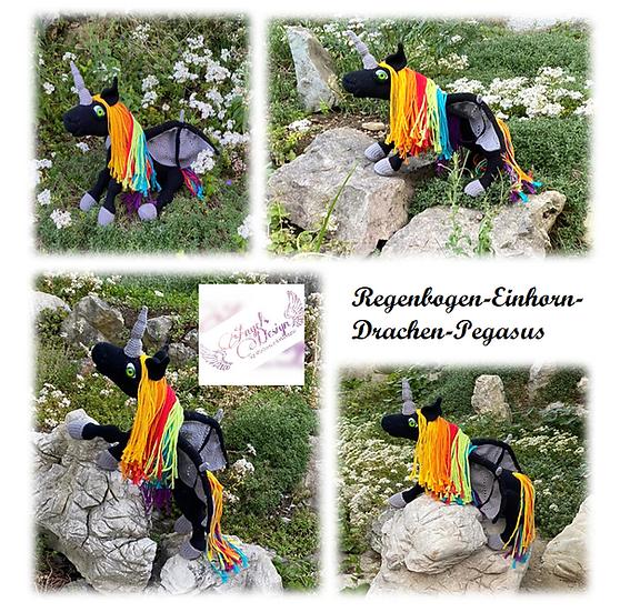 Regenbogen-Einhorn-Drachen-Pegasus