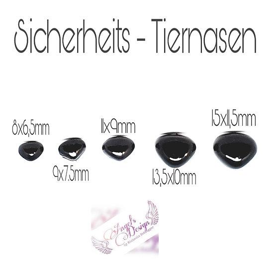 Tiernasen  Schwarz 10mm - 16mm