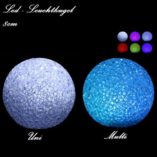 LED Leuchtkugel 8cm versch. Varianten