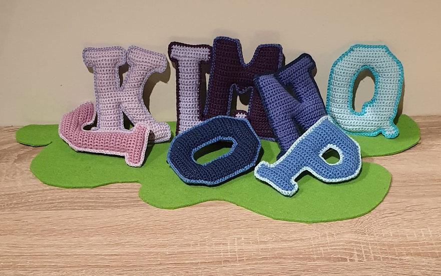 Buchstaben Set J-Q