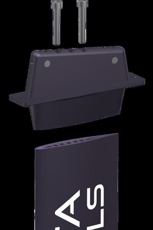Tuttle mast head for mono v2-v3 aluminum masts