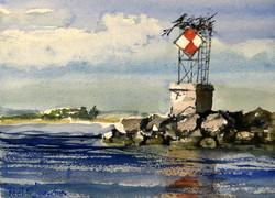 Beacon at Duck Island