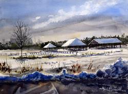 Winter at Hammonasset Park