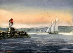 Schooner at Duck Island