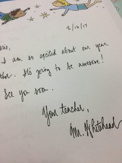 summer letter to student