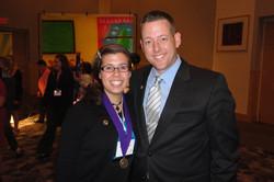 with former third grader and Teacher of Promise (now master teacher) Mandy Burton