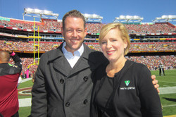 sidelines at Bears-Redskins with Paula Otto