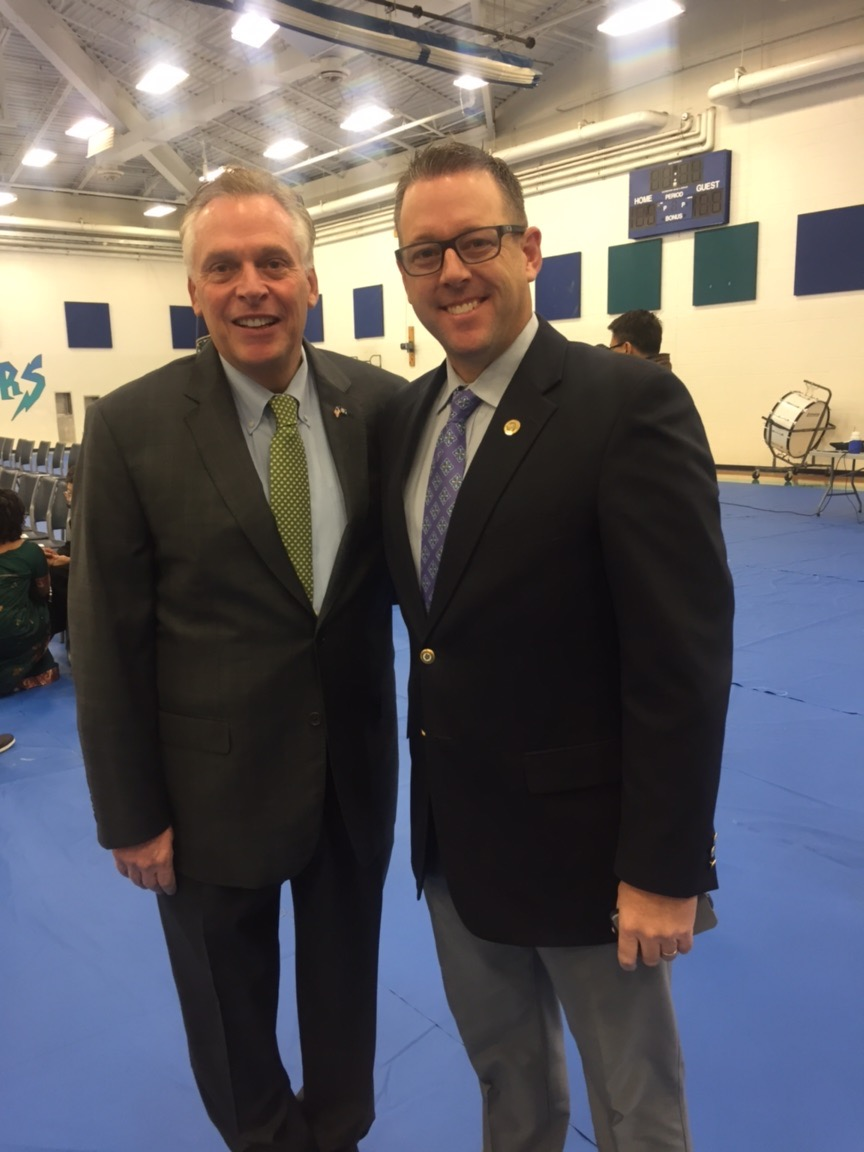 with VA Governor Terry McAuliffe
