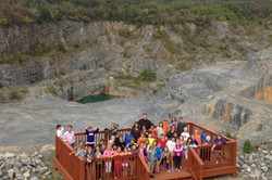 class photo at the quarry