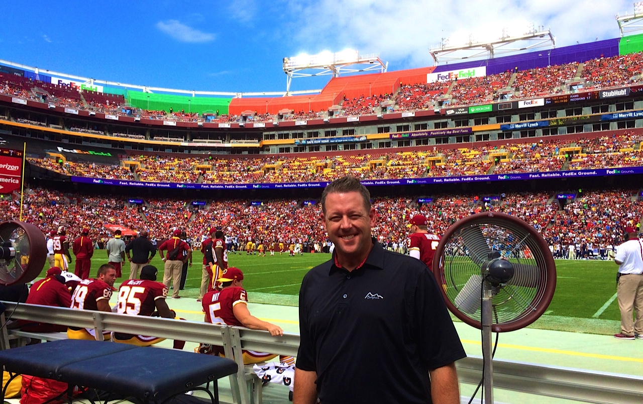 sideline at FedEx Field