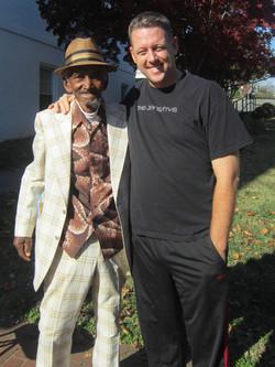 with late friend James Tarpley