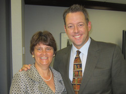 with (then) VA Secretary of Education Anne Holton
