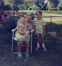 with Scott and Grandma Bessie