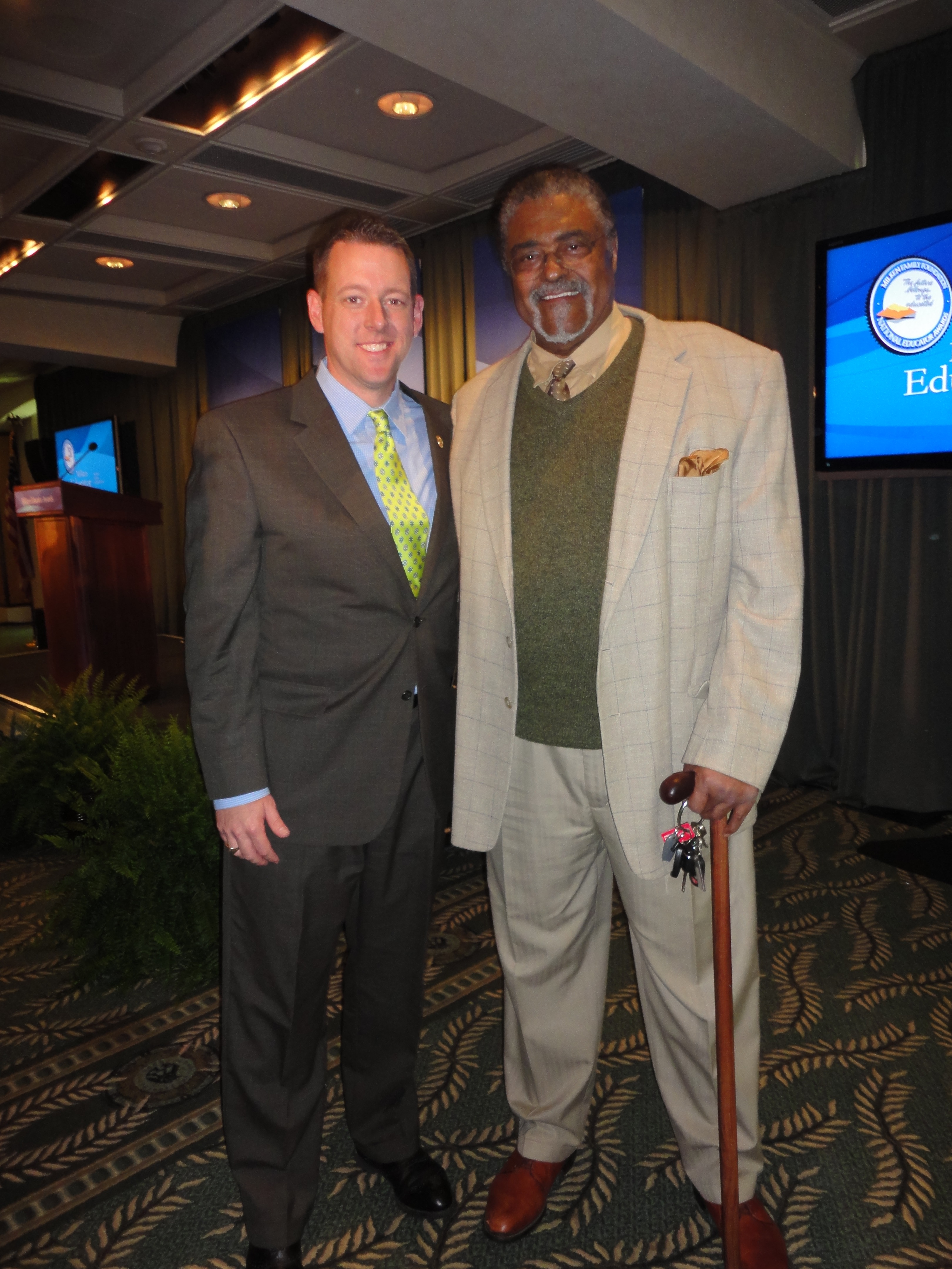 with Rosey Grier