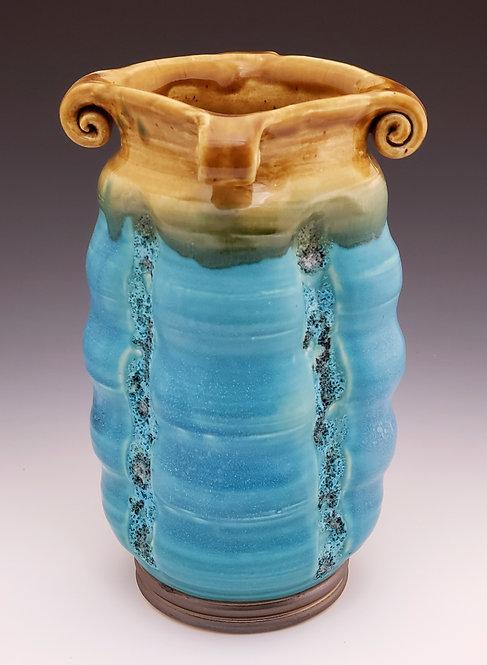 Turquoise Squared vase