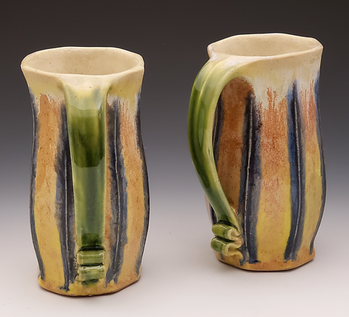 Extruded  Pair of Mugs