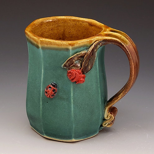 Extruded Cups with Roses and Ladybugs