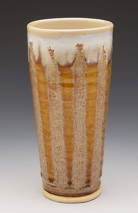 4 Amber Striped Tumbler Set