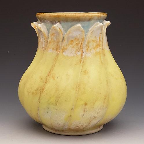 Twisted petal vase