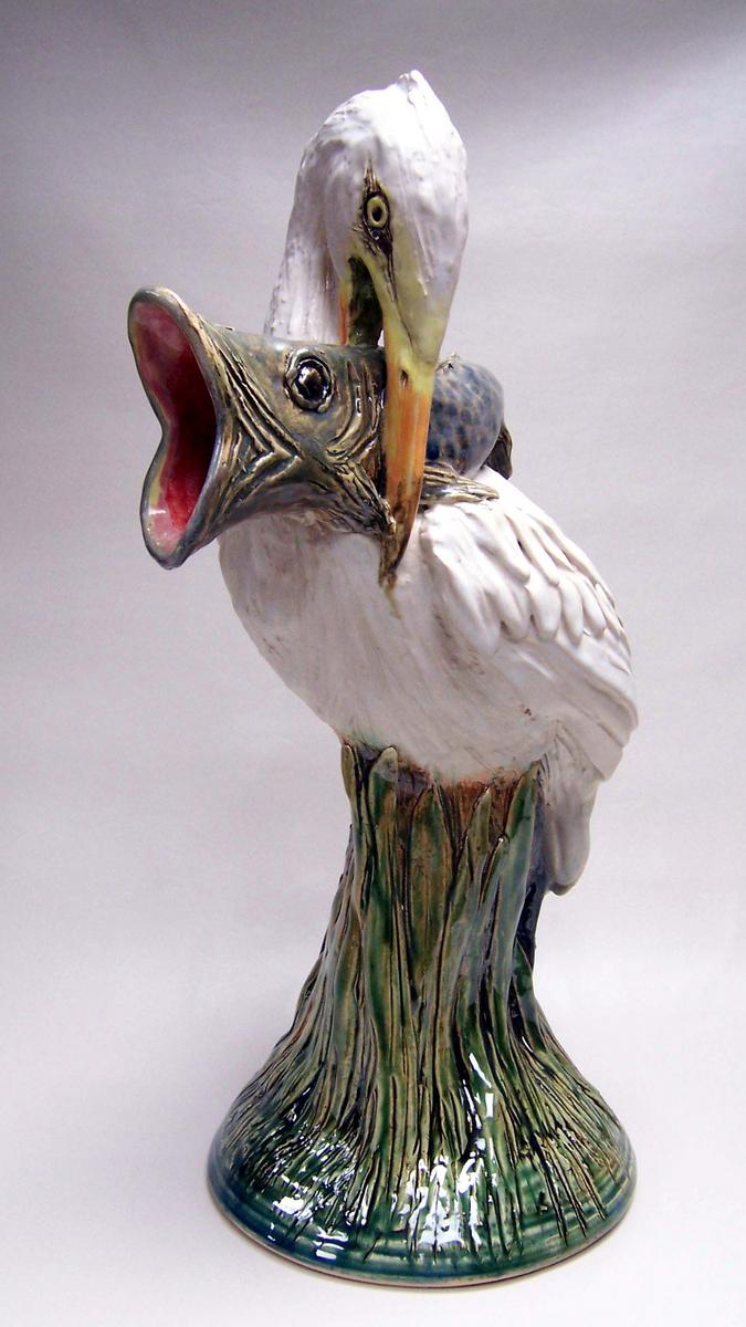 White Egret water ewer