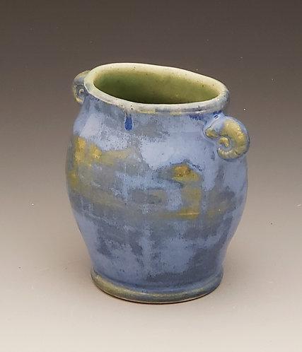 #3 light blue oval vase