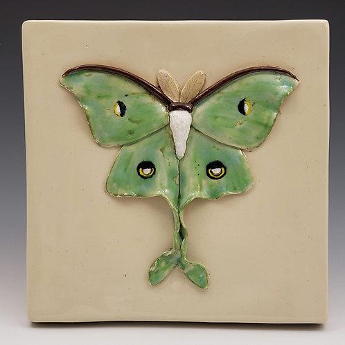 Luna Moth Tile