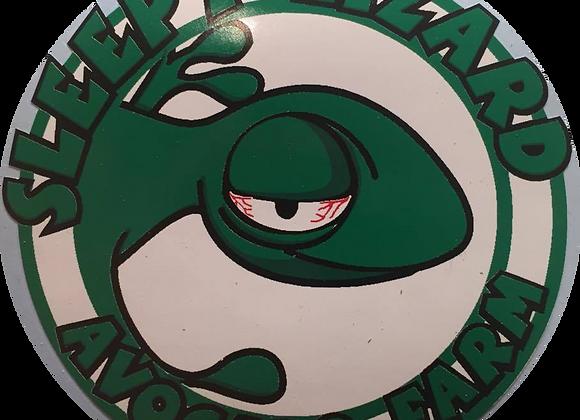 Sleepy Lizard Avocado Farm Sticker