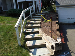 Staircase & Retaining Wall - Before