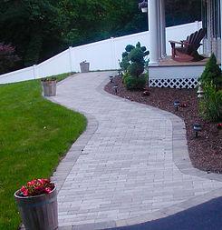 walkway, front walk, sidewalk