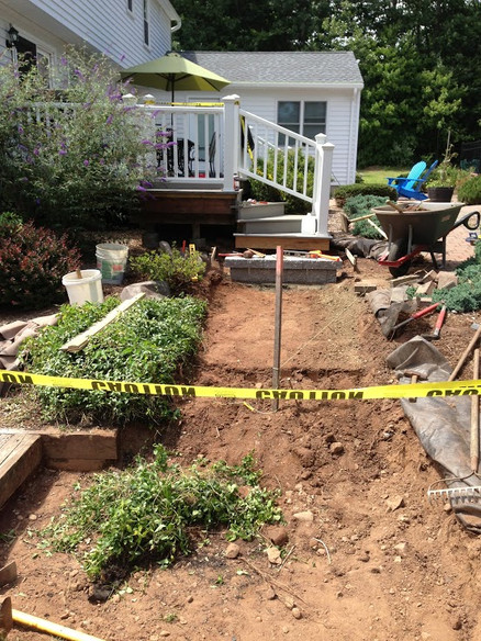 Before picture- walk and steps installation