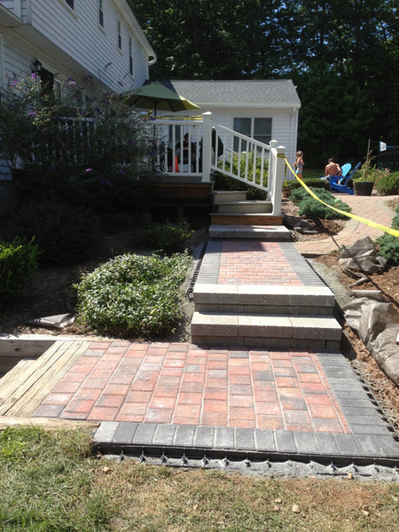 Walk and steps installation- after