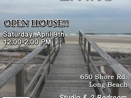 Open House April 9, 2016, 12pm-2pm