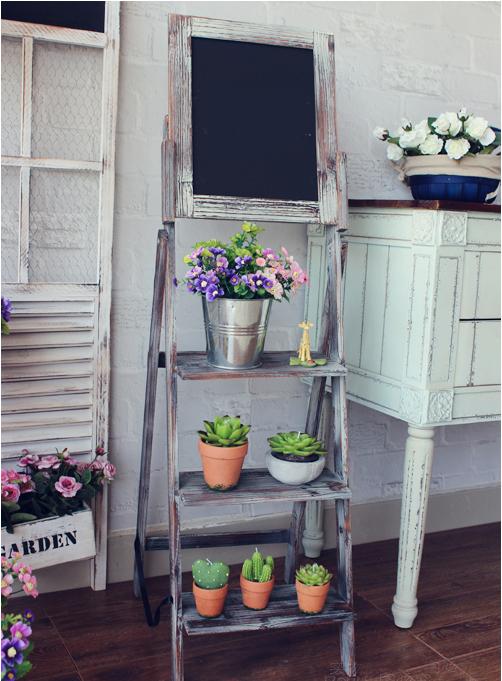 chalkboard wooden ladder