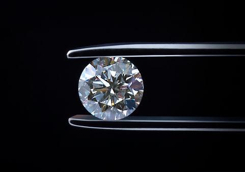 Loose diamond, Round Brilliant Cut Diamond close up picture