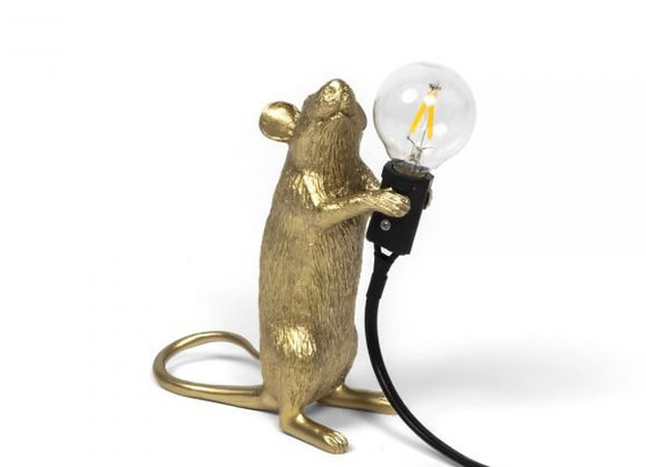 Mouse lamp Gold, standing