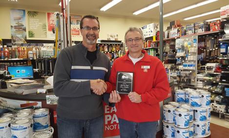 2017 Exceptional Customer Service Award - Kurt Van Dyck, Home Hardware