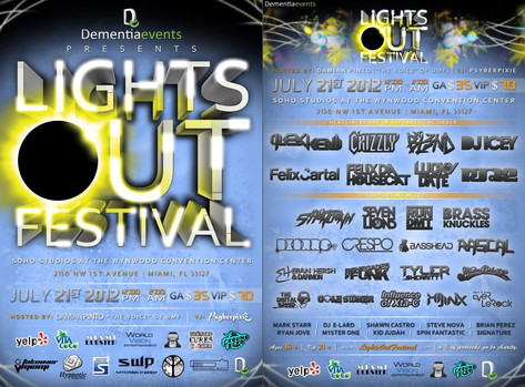 First Ever Lights Out Festival in Wynwood, FL
