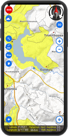 Χάρτης κυνηγίου Φάσσας  - Τρυγονιού 2021