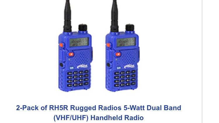 Promocion Paquete de 2 rugged radio 5 watt radio