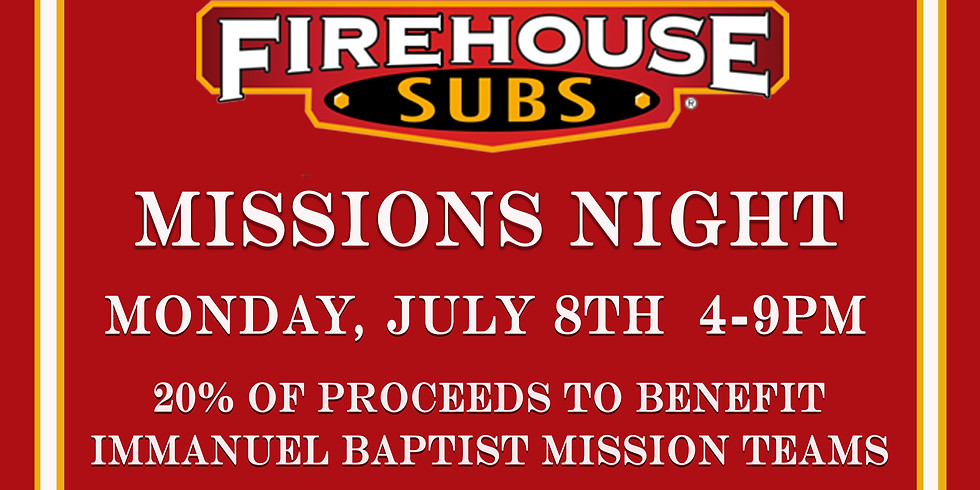 Missions Night at Firehouse Subs