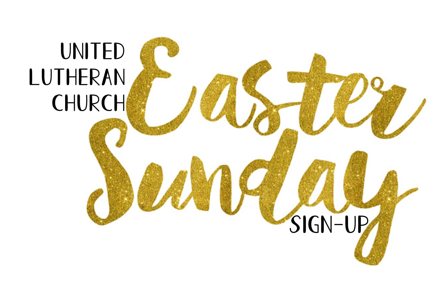 Sign up for Easter Worship