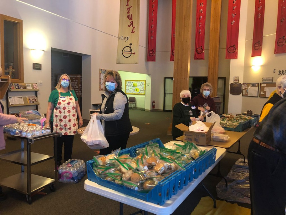 Volunteers at the Love Feast!