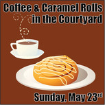 Coffee and Caramel Rolls in the Courtyard! Join us in the courtyard after our 10:15am               worship on Sunday, May 23rd for caramel rolls and coffee in United's courtyard. We ask that you wear your mask until you find a table to sit with your   family pod. You can also take the caramel rolls to go! This event will be hosted by United Youth with a free will donation that will go towards our high school trip to Duluth, MN this July! Hope to see you there!