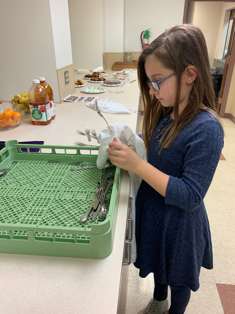 Youth helping in the kitchen