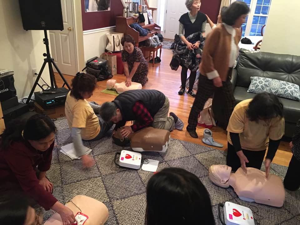 CPR-참석한 모두-hands-on practice
