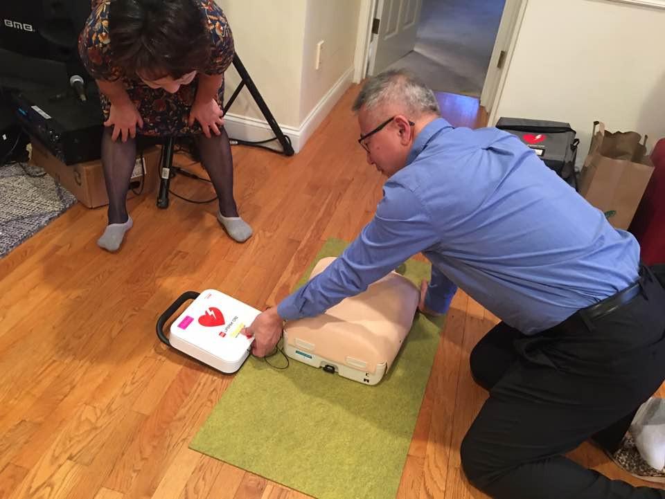 CPR-산악회 회장님도 열심히 배우고 계시네요